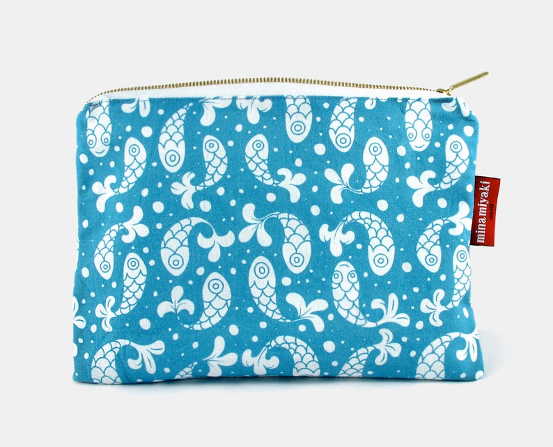 Bubble Fish Zipper Cosmetic Makeup Pouch carry-all bag image 0