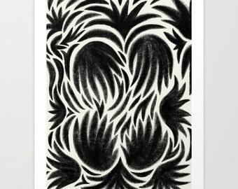 Botanical Hands Art Print   Archival Gallery Giclée