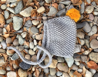 """Knit """"Gnome"""" Baby Hat"""