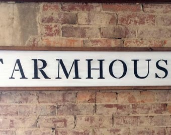 Large Farmhouse wooden sign