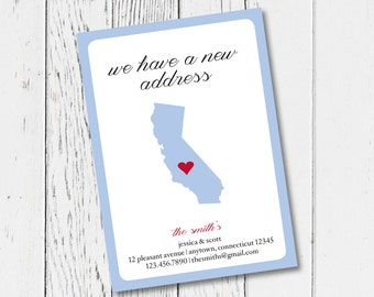 Moving Announcement - Personalized with your new address and color of your choice