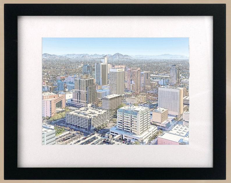 Arizona CityScape Print Phoenix