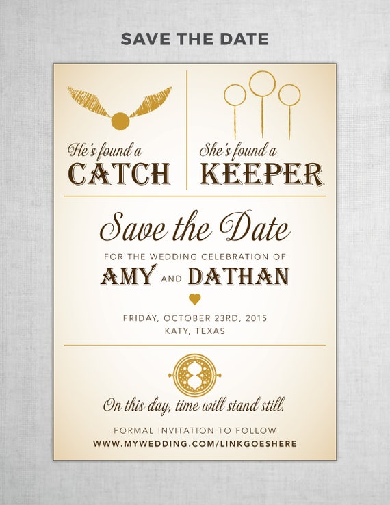 Harry potter save the date diy printable etsy image 0 solutioingenieria Image collections