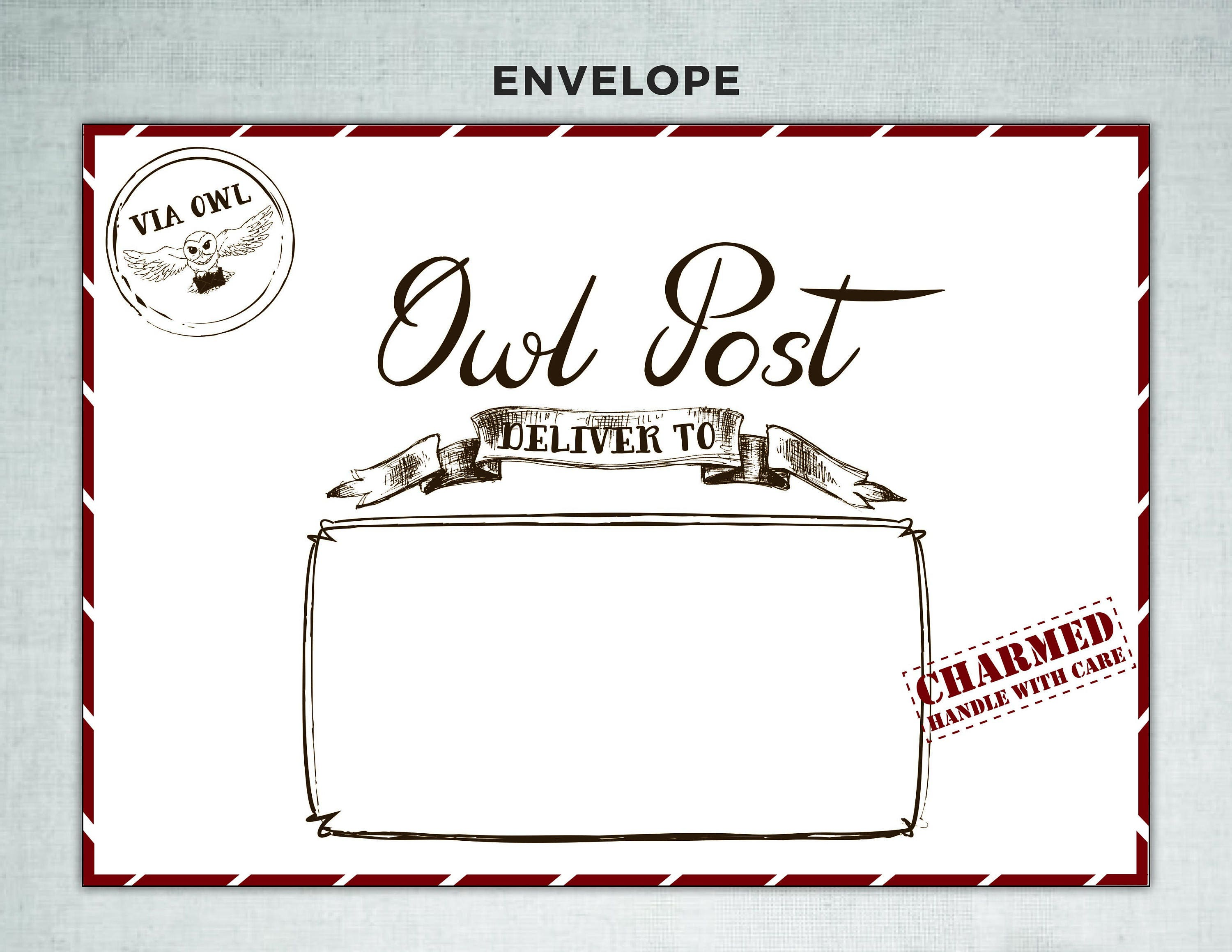 It's just a photo of Clever Harry Potter Envelope Printable
