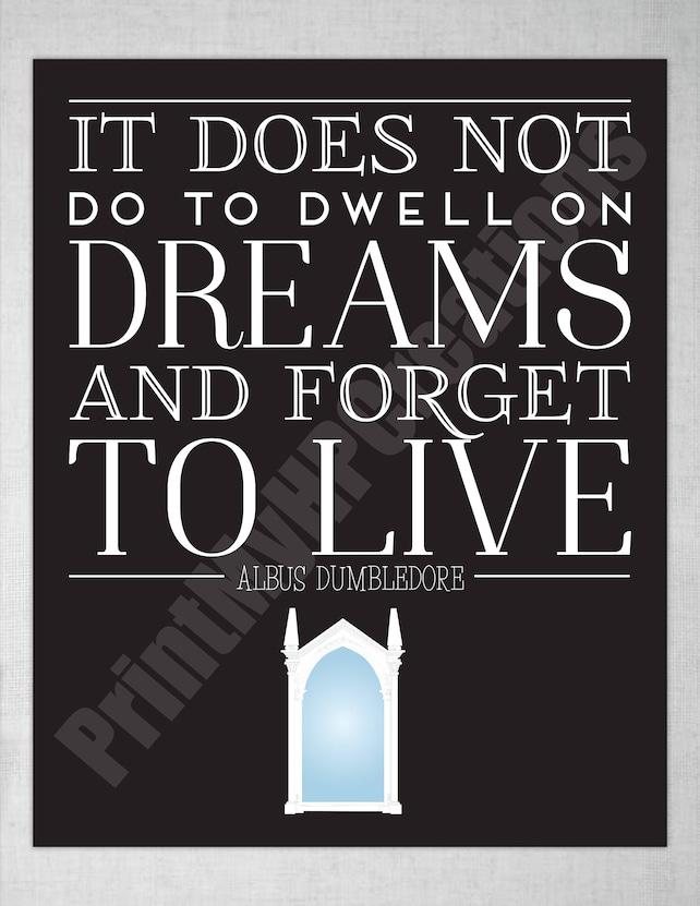 Harry Potter Mirror of Erised Dumbledore Quote Black | Etsy