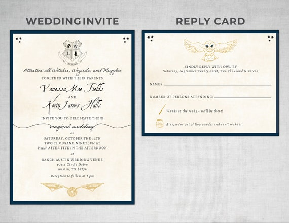 good harry potter wedding invitation templates or 35