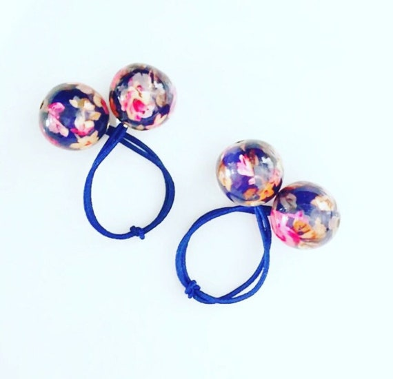Large Ball Hair Ties. Ball Ponytail Holder. Pigtails. Ponytail  2c7a18ab728
