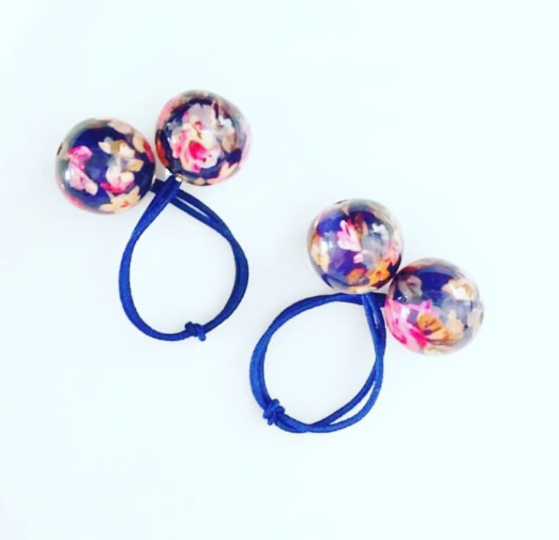 Large Ball Hair Ties. Ball Ponytail Holder. Pigtails  15c9a9a4d05