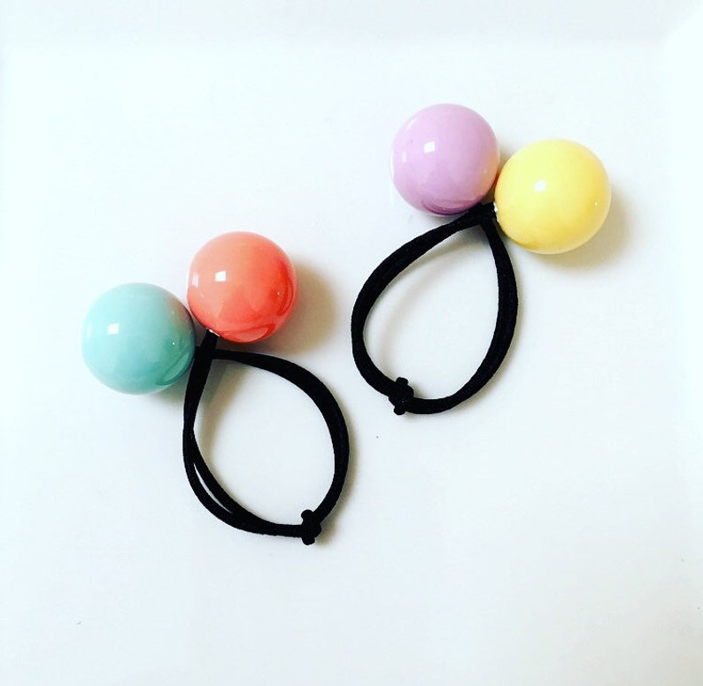 Ball Hair Ties   Ponytail Holders   Kids Hair   Girl Hair    44e4854e1a9