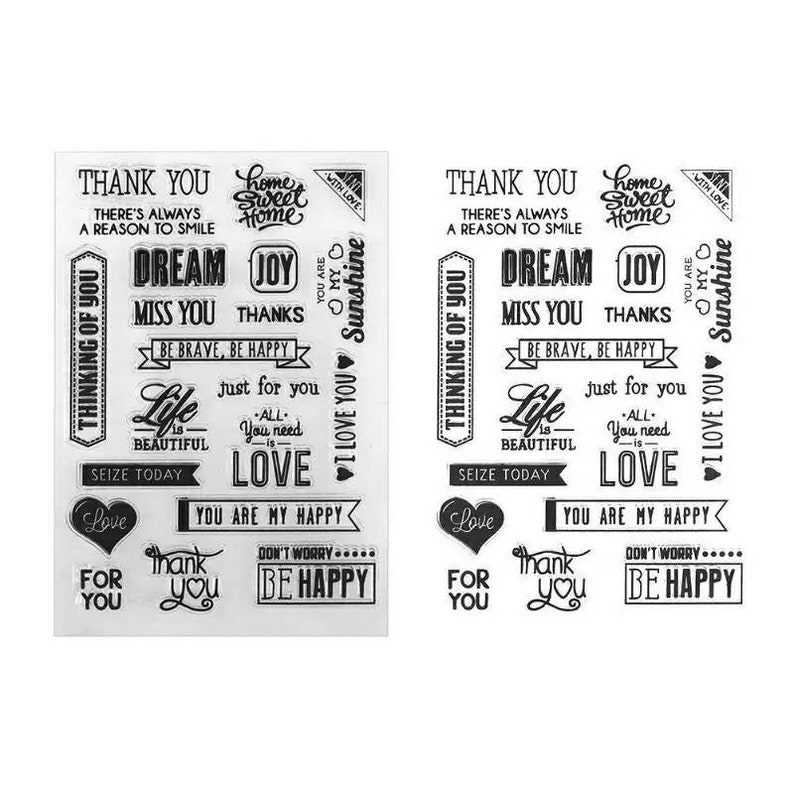 Sentiments clear stamp for card making journaling and scrapbooking.