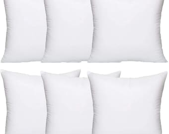 Hollowfibre Cushion Pads Inner Inserts Scatters Pack 1,2,4,6,10 45cm x 45cm 18x18