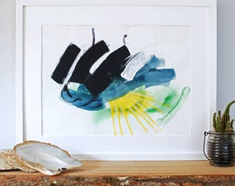 Precipice Abstract Art Print