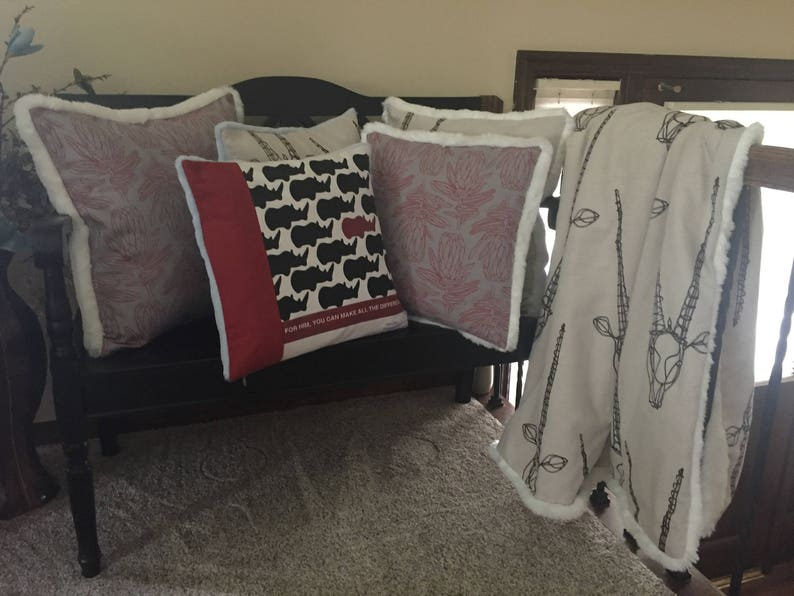 Prime Completed Custom Order Pillow Covers With Zippers And Throw For Taryn Using Her Fabric From South Africa Fur Private Listing Not For Sale Onthecornerstone Fun Painted Chair Ideas Images Onthecornerstoneorg
