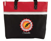 Notary Public Seal Personalized Printed Small Beach Tote