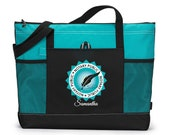 Notary Public Seal Personalized Printed Tote Bag with Mesh Pockets
