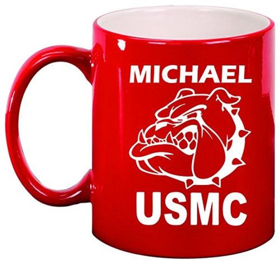Devil Dog Personalized Engraved Ceramic 11 oz Coffee Mug