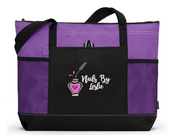 Nail Tech Nails by Name Personalized Embroidered Tote Bag