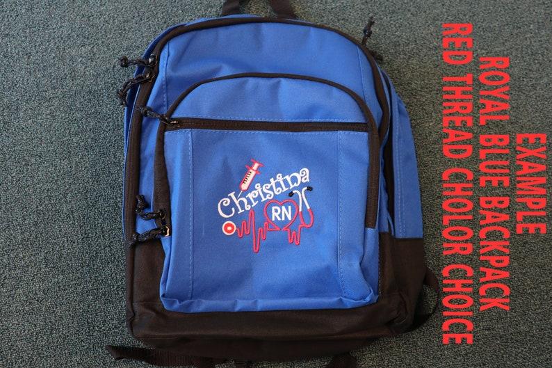 Cna Nurse 3 Personalized Back Pack Rn Nurse Cma Lpn Emt Embroidered