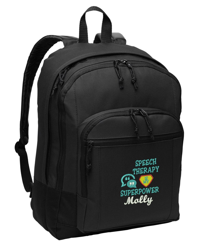 Speech Therapy Is My Superpower Personalized Back Pack image 0