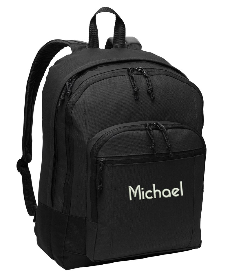 Personalized Embroidered Backpack image 0