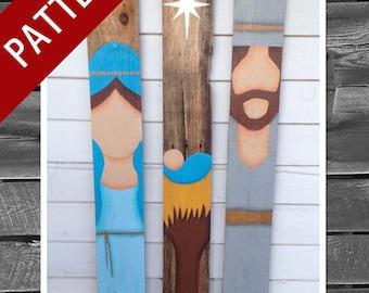 Pallet Wood Christmas Nativity Set - PATTERN