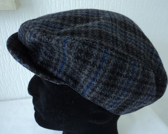cc6cd5e755c French vintage polyester and wool men s flat cap size 60 (07845)
