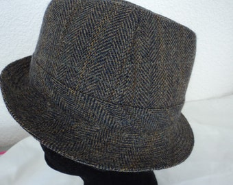 5b9be4d2bf444 French vintage Impercork Crambes pure wool waterproof fedora hat size 56 -  6 7 8 (07275)