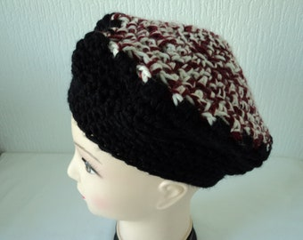 90990a97664e4 French vintage hand knitted beret (07752)