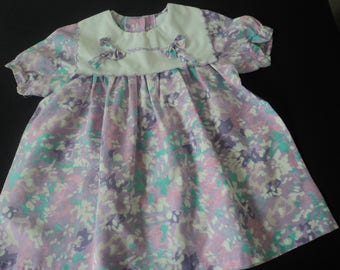 French vintage beautiful cotton babies dress   (05492)