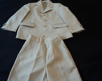 Adriano Jacometti  boy's two piece beige two piece suit age 3 years (13477) T4