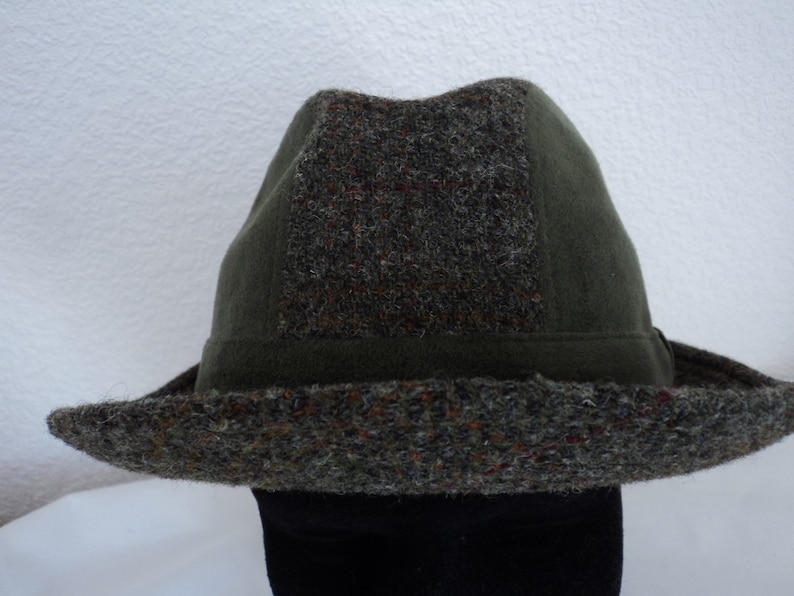 729903d006db5 French vintage Crambes Harris tweed pure wool fedora hat size