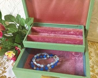 Jewelry Box Jewelry Display Jewelry Storage Jewelry Organizer Jewelry Case Personalized Two Tier Jewelry Box Anniversary Gift