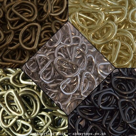 Abbeytops Split Rings 10mm 15mm 20mm 25mm 30mm Keyring Hook Loop Leather Craft Antique Brass, 20mm