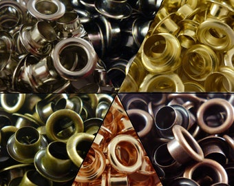 Eyelet with Washer Leather Craft Repair Grommet 3mm 4mm 5mm 6mm 8mm 10mm 12mm & 14mm x100
