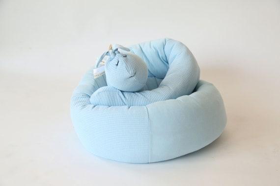 Bleu Marine Snailey Bailey Spirale Bebe Pare Chocs Oreiller