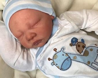 Reborn Baby Doll / Boy / Reborn Cuddle Baby  / Reborn Babies / Ready to Ship / Realistic Baby Doll / Soft Body Baby Doll / Bald Baby Doll