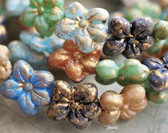 Flower Beads Czech Beads Boutique of Flowers Beads 50-1s