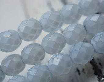 Heavenly Blue, Round Beads, Czech Beads, Beads, 17-1