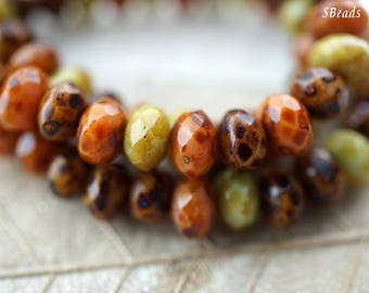 Winter Bliss, Rondelle Beads, Czech Beads, Beads, N2115