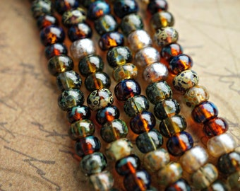 NEW Stock..Dark Picasso Mix, Seed Beads, Seed Beads, Beads, AB3