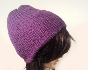 94a05e496fe Purple Knit Hat Womens Purple Hat