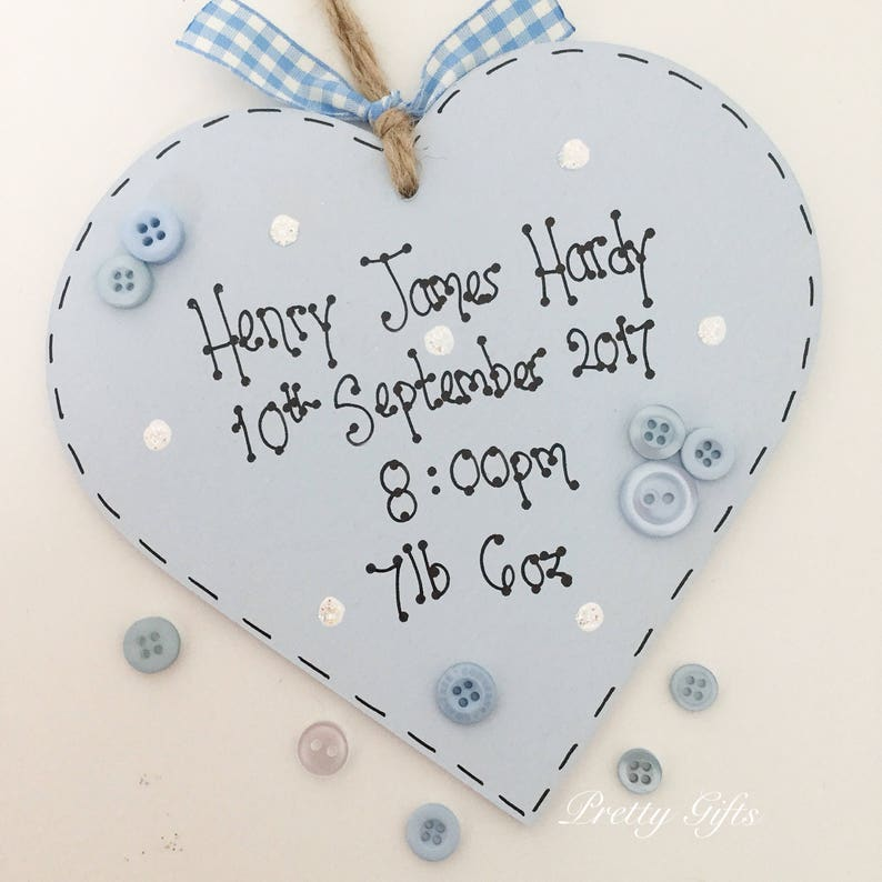Heart Pink Polka Dot Baby Girl Hanging Plaque//Nursery Decoration// Baby gift