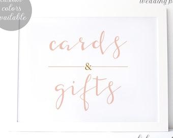DIY Printable Wedding Sign | Custom Sizes Available | Cards and Gifts Sign | Custom Colors Available | a001