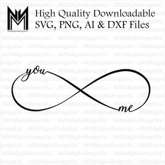Infinity Symbol You Me Infinite Love Valentines Day Etsy