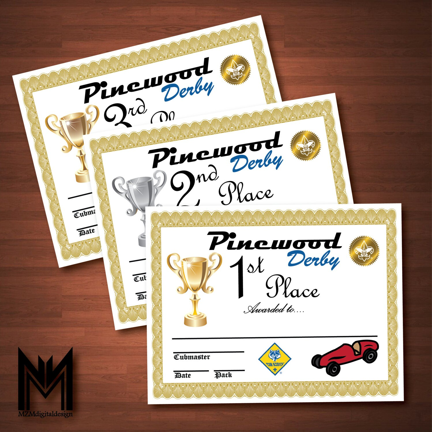photo regarding Pinewood Derby Awards Printable titled Printable Pinewood Derby Certificates + Weigh-Within just Indication - BSA Cub Scout - Pinewood Derby - Award - Pack Conference - Fast Obtain - PDF Report