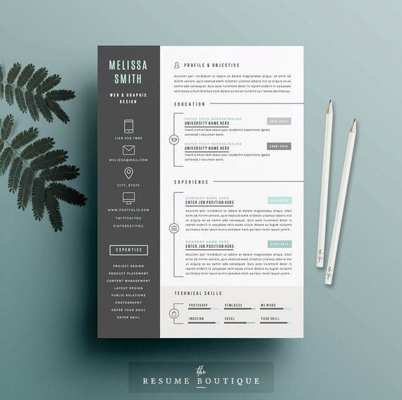 resume template 4 pages cv template cover letter for ms etsy