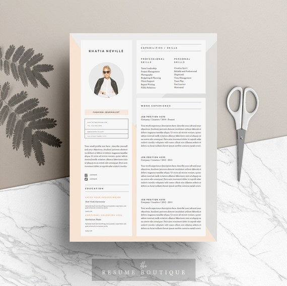 "5 page Resume Template and Cover Letter + References Template for Word | DIY Printable | ""Modern Muse"" 