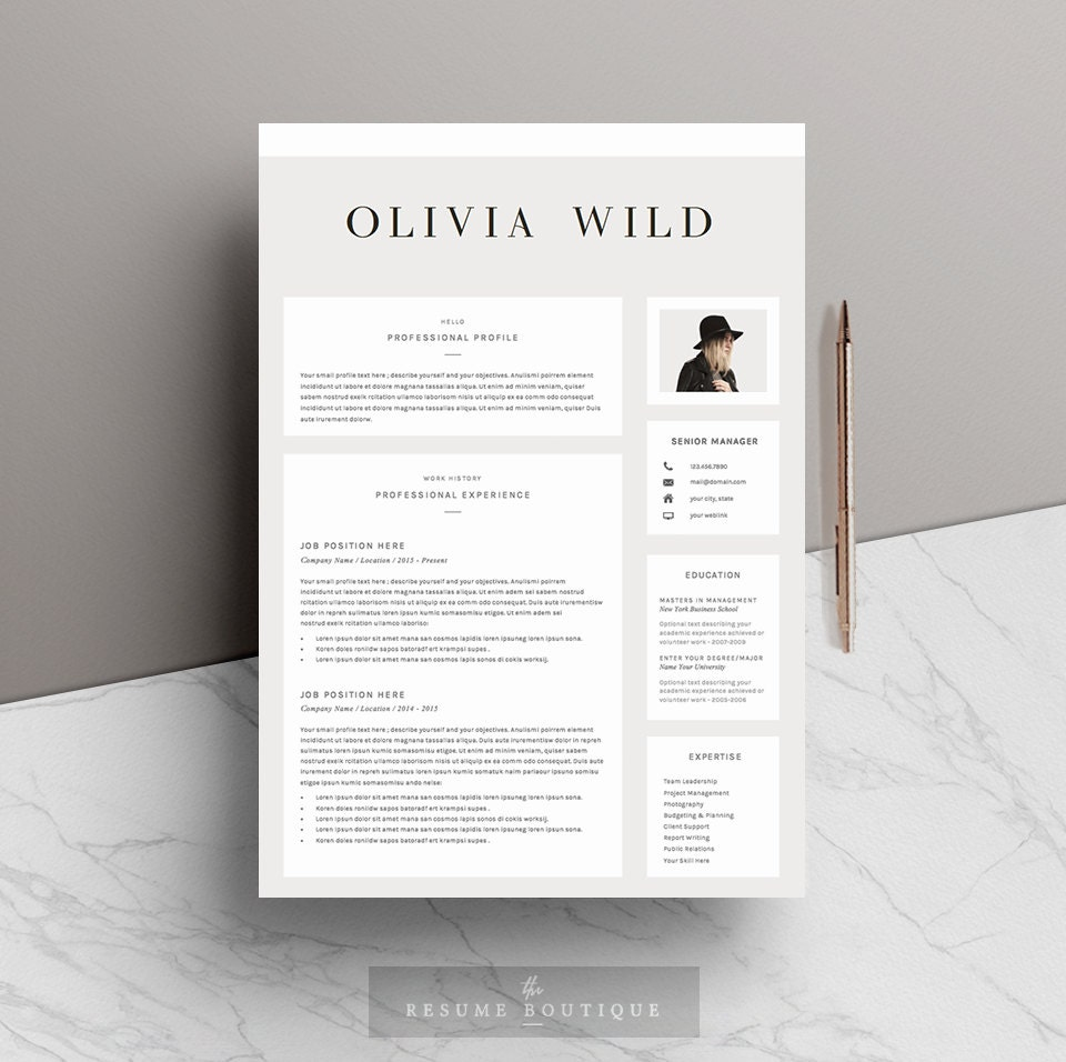 resume template 5 pages cv template cover letter