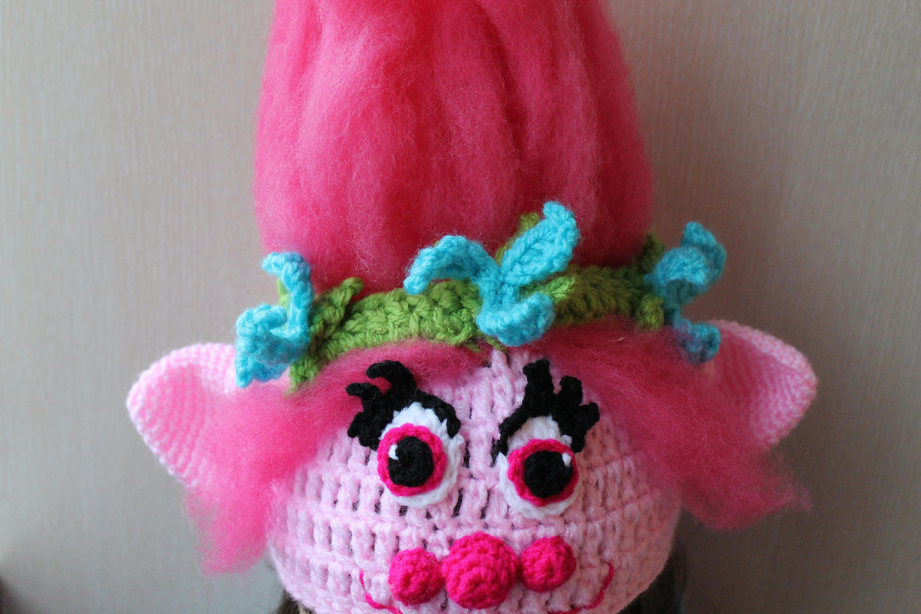 PATTERN Troll Hat Princess Poppy Crochet Hat Crochet  5485446fbd4