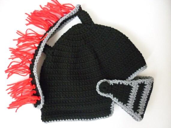Pattern Knight Helmet Hat Crochet Beanie Hat Handmade Etsy